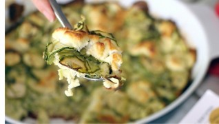 Corsican gratin: Zucchini and goat cheese