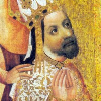 I would look golden too if I was Charles IV and was the first guy to have tasted it!